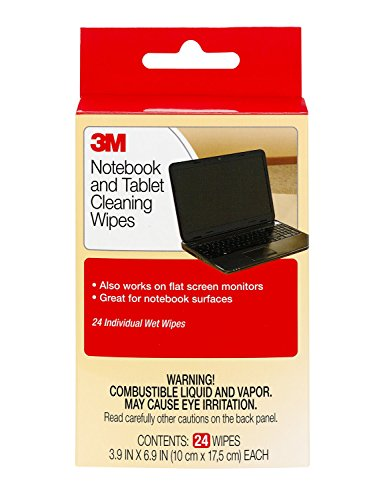3M Notebook Screen Cleaning Wipes, 3.9 x 6.9 Inches (CL630), White