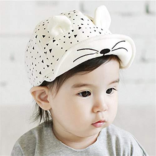 Sombrero de bebé Sombra niña niño niño Sombrero Pato Lengua Gorra de béisbol 6-12 Meses Blanco 46-52cm