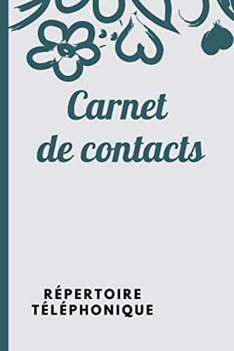 Carnet de contacts répertoire téléphonique: carnet d'adresses pour sauvegarder les coordonnées de ses contacts
