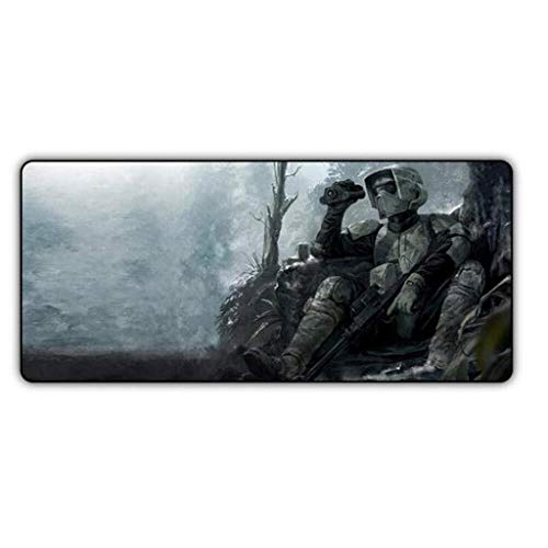 Gaming Mouse Pad Große Mauspad Star Wars Pattern Table Mat Tastatur Mat Erweiterte Mousepad for Computer PC-Mausunterlage (Color : H, Size : 800x300x3mm)