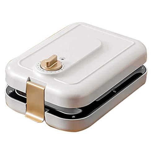 FSJD Mini sandwichera sandwichera Multifuncional con Bandeja Antiadherente móvil Ajustable en Tiempo y asa desplegable, para Preparar un Delicioso Desayuno para los niños en casa