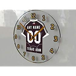 FanPlastic SEC Southeastern Conference College Football - Personalized Wall Clocks - Size 12 X 12 X 2 - The Best A Fan CAN GET !!! (Texas A&M)