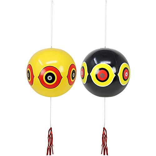com-four® 2X Vogelabwehr als Ballon, Ø 35 cm (02 Stück - Ballon)
