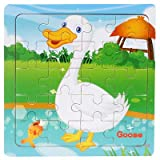 FXX Rompecabezas, 20 Slice Puzzle niños de Juguete Animales de Madera Rompecabezas Juguetes educativos del bebé de Aprendizaje para niños de Regalos,A