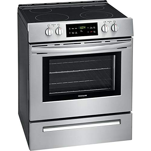 Frigidaire FFEH3051VS 30 Electric Front Control Smooth Top Freestanding Range