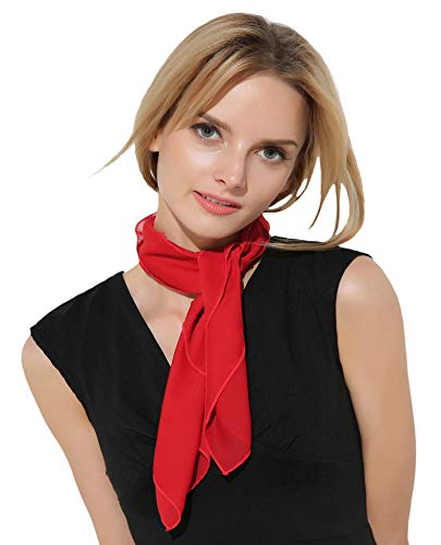 Red Scarf Ascot Red Choker Bonnie and Clyde Costumes Flight Attendant Costume