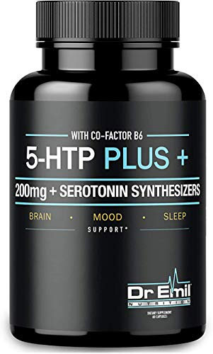 200 MG 5-HTP Plus Serotonin Synthesizers and Cofactor B6 for Improved Serotonin Conversion - Enhanced 5HTP Supplement for Serotonin Boost, Mood and Sleep Support