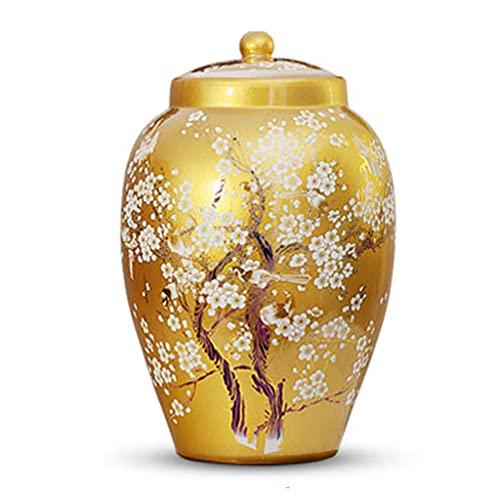 Tanque de arroz Tanque de arroz de cerámica Cubo de arroz doméstico Caja sellada Tanque de Agua a Prueba de Humedad y a Prueba de Insectos