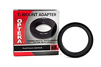 Opteka T-Mount  T2  Adapter for Canon EF EOS 80D 77D 70D 60D 60Da 50D 7D 6D 5D 5Ds T7i T7s T6s T6i T6 T5i T5 T4i T3i T3 T2i SL2 and SL1 Digital SLR Cameras