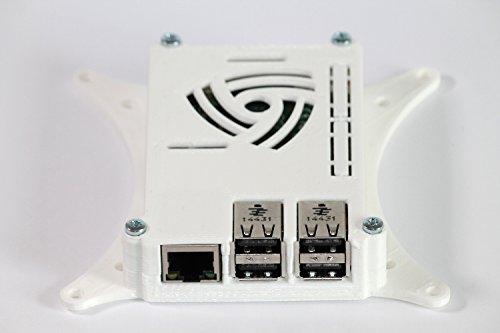 Raspberry Pi 3 Case with 75mm & 100mm VESA Monitor TV Mount White 0110-M-P