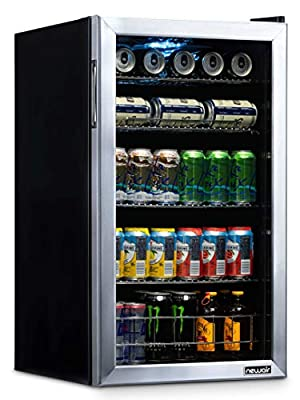NewAir NBC126SS02 Beverage Refrigerator and Cooler, Holds up to 120 Cans, Cools Down to 34 Degrees Perfect for Beer Wine or Soda