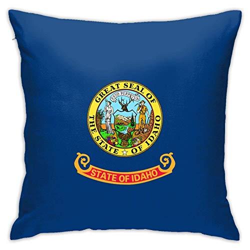 Bandera de Idaho - Funda de almohada cuadrada decorativa para sofá, coche, hogar, 45,7 x 18 pulgadas