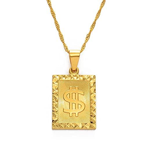 BAIYAN Hiphop Collar, Dinero Símbolo de Riqueza Colgante Africano Collares para Mujeres...