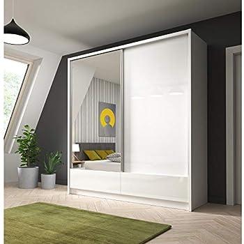 ARIA I - Armario con 2 puertas correderas con cajones en puertas ...