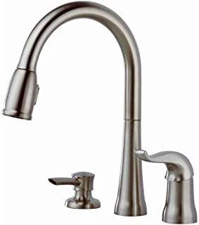 Delta Faucet Kate Single-Handle Kitchen Sink Faucet with Pull Down Sprayer, Soap Dispenser and Magnetic Docking Spray Head, Stainless 16970-SSSD-DST