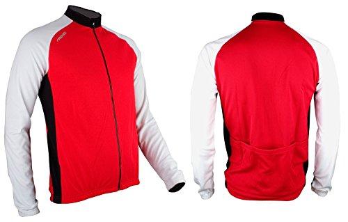 Avento 81bv - Giacca da ciclismo da uomo, Uomo, Giacca da ciclismo, 8716404252427, rosso/bianco/nero., L