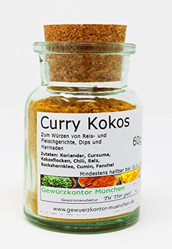 Curry Kokos 60g im Glas Gewürzkontor München
