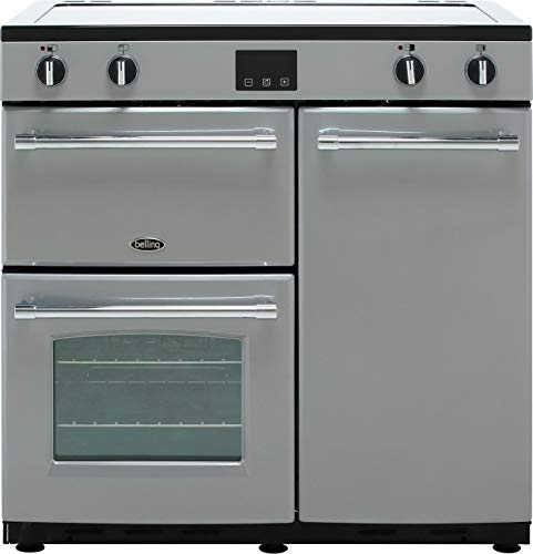 Belling Farmhouse90Ei 90cm Electric Range Cooker with Induction Hob - Silver