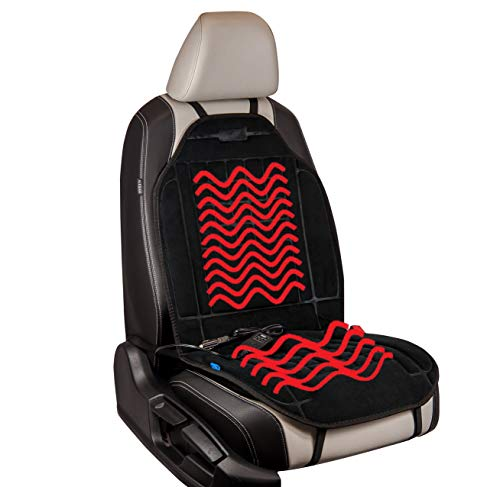 Sojoy Foam Car Seat Cushion for Winter Fleece Seat Protector for Car,Home,Office Black