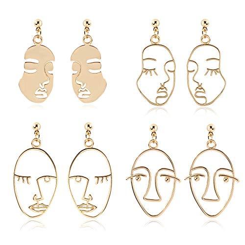 DecentGadget Picasso - Orecchini da donna a forma di volo, orecchini a goccia in oro, alla moda, per donne e ragazze