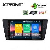 XTRONS 9' Autoradio mit Touch Screen Android 9.0 Quad Core Multimedia Player Autostereo unterstützt 4G WiFi Bluetooth Plug&Play Design 2GB 16GB DAB & OBD2 FÜR BMW E90 E91 E93