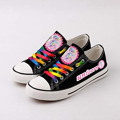 GMANKEE Zapatos Casuales Zapatos Hombre Ligeras Zapatos De Moda para Hombre Zapatillas Mujer Anime Shoes Zapatos Planos Zapatos Mujer Rainbow Anime Shoes 38