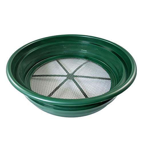 "1/8"" Classifier Sifting Pan Gold Panning Fits 5 Gallon Bucket Mesh Screen New"