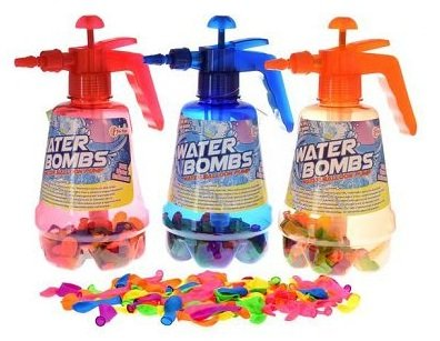 Toi-Toys Wasserballon Pumpe mit 100 Wasserballons Wasserbomben Luftballons Ballons