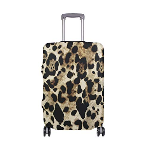 Suitcase Cover Leopard Print Pattern Lightweight Luggage Cover Protector Fits 18-32 inch