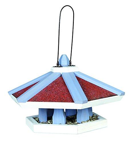 TRIXIE Vogelhaus natura FUTTERHAUS zum Aufhängen 42 x 24cm hellblau/weiß für Vögel