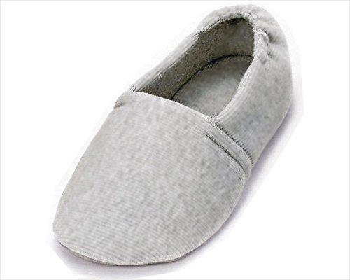 介護シューズ あゆみ エスパド 室内用 グレー Lサイズ(23.5~24.5cm) 足囲3E相当 片足(右足)