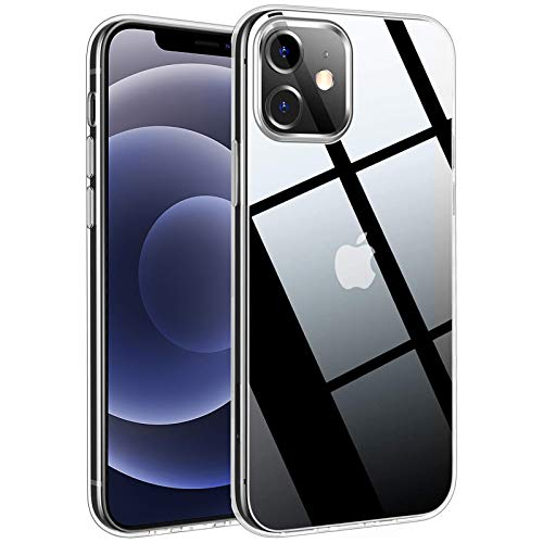 TECHGEAR Hülle iPhone 12 Mini transparent Hülle - [Airflex] Slim Light Hülle Schutz, Flexible Gel TPU Abdeckung Superdünn, Ultraklar Hülle kompatibel mit iPhone 12 Mini 5.4 Zoll (Transparent)