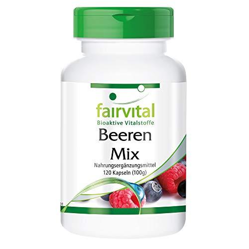 Beeren Mix - Antioxidantien Kapseln - HOCHDOSIERT - VEGAN - 120 Kapseln - 8 Beeren mit Spirulina
