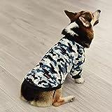 XIAOTAO Ropa Mascotas Camuflaje Ropa Perros Otoño Invierno Terciopelo cálido Fleece Perro Gato Abrigo Suave Velcro clásico Ropa Mascotas Perros pequeños medianos Regalo Gatos y Perros-M