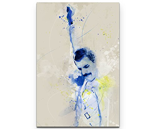Paul Sinus Art Freddie Mercury VI 90x60cm auf Leinwand gespannt fertig zum aufhängen