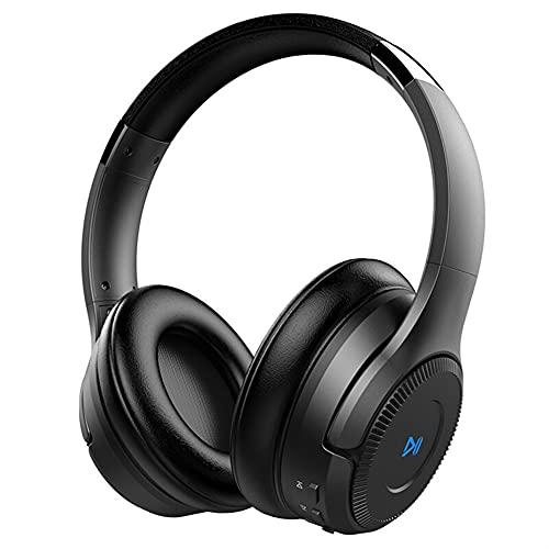 Casque Bluetooth sans Fil Smart Touch Stéréo Qualité sonore Sports Running Timing Anti-Bruit Téléphone Portable Ordinateur Casque Universel (Color : Black)
