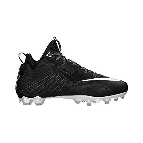 Nike CJ Elite 2 TD Calvin Johnson Football Cleats Shoes Black White Mens Size 14