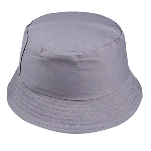 LOPILY Suave Transpirable Sombrero de Sol Sombrero de Pescador Moda Salvaje Gorra de protección Solar al Aire Libre Sombreros Deportivos para Hombre y Mujer Sencillo Sombrero de Pareja(Dark Gris)
