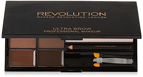 MAKEUP REVOLUTION Ultra Brow Palette Medium to Dark, 19 g