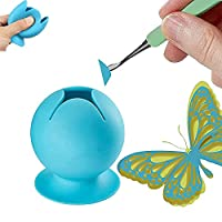 Weeding Waste Collector Vinyl Silicone Suction Cup,Suctioned Vinyl Weeding Scrap Collector Weeding Tool Kit for Vinyl Disposing, Craft Weeding Tools (Blue)