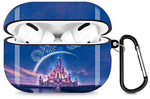 Disney Castle Airpods Pro Case Personalise Custom Airpods Pro Case Cover Compatiable with Apple Airpods Pro Case 2019Full Protective Durable Shockproof Drop Proof with Keychain Compatible