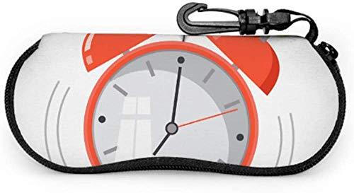 MODORSAN Pequeño Exquisito Color Reloj Despertador Estuche para Anteojos Estuche para Gafas Estuche Ligero Portátil con Cremallera de Neopreno Estuche Suave Estuche para Anteojos para Hombres