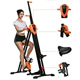 Steel Alloy Stair Climber Machine, Folding 2 in 1 Climbing Stepper Home Gym, Exercise Folding Climbing Machine,Vertical Climbing Exercise Machine, Fitness Stepper Gym, Whole Body Cardio Workout Tra