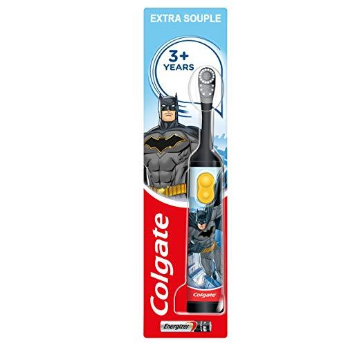 COLGATE - Brosse à Dents à Piles Colgate Batman Extra Souple - Brosse à Dents Électrique pour Enfant - Augmente la Motivation de l'Enfant - Pour Prendre de Bonnes Habitudes - Piles Incluses -Lot de 3