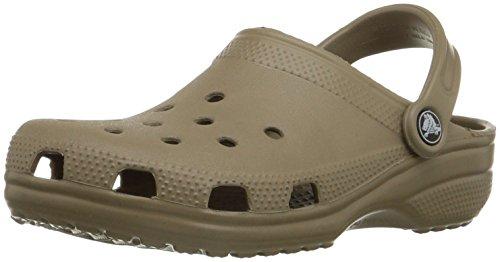 Crocs Classic, Zuecos Unisex Adulto, Marrón (Khaki), 43/44 EU