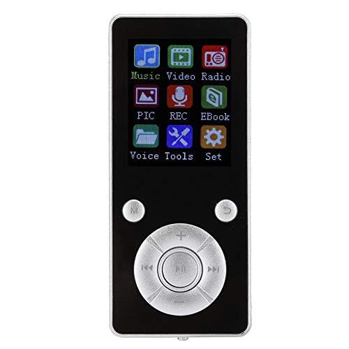 Demeras Lecteur MP4 32 Go Lecteur MP4 avec Bluetooth 4.2 Carte Plug-in Portable Lecteur vidéo Musical étudiant MP4(Argent)