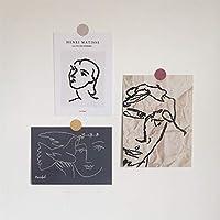 ユニークな抽象芸術絵画はがき小さなポスターインアーティストスタイルの壁の装飾寝室の振り子の小道具文房具DIYカード