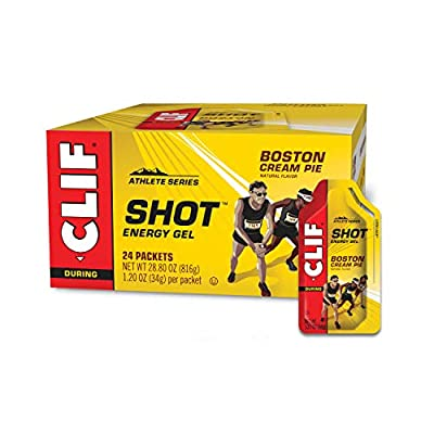 Clif Shot - Energy Gels - Boston Cream Pie - Non-GMO - Non-Caffienated - Fast Carbs for Energy - High Performance & Endurance - Fast Fuel for Cycling and Running (1.2 Ounce Packet, 24 Count)