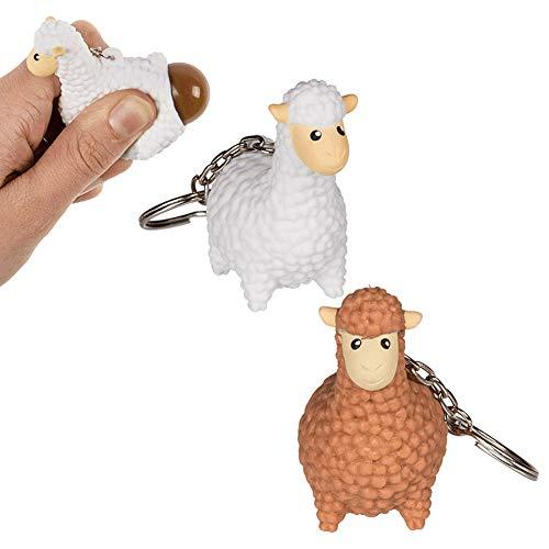 OOTB Portachiavi Lama Che Fa la Cacca - Venduto singolarmente - Portachiavi Giocattolo Antistress - Animale, Pecora Che Fa la Cacca