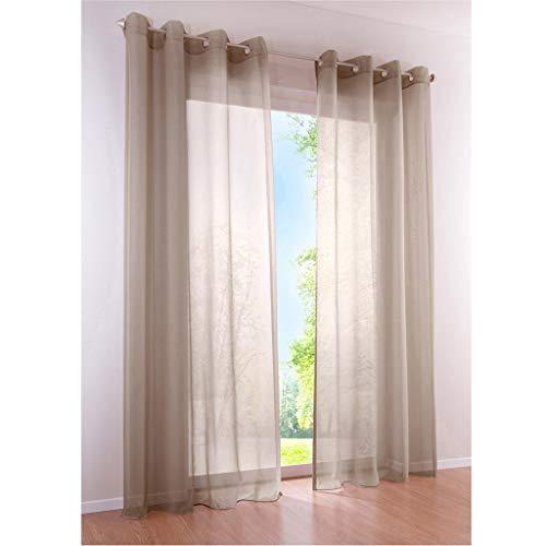 cortinas salon beige claro